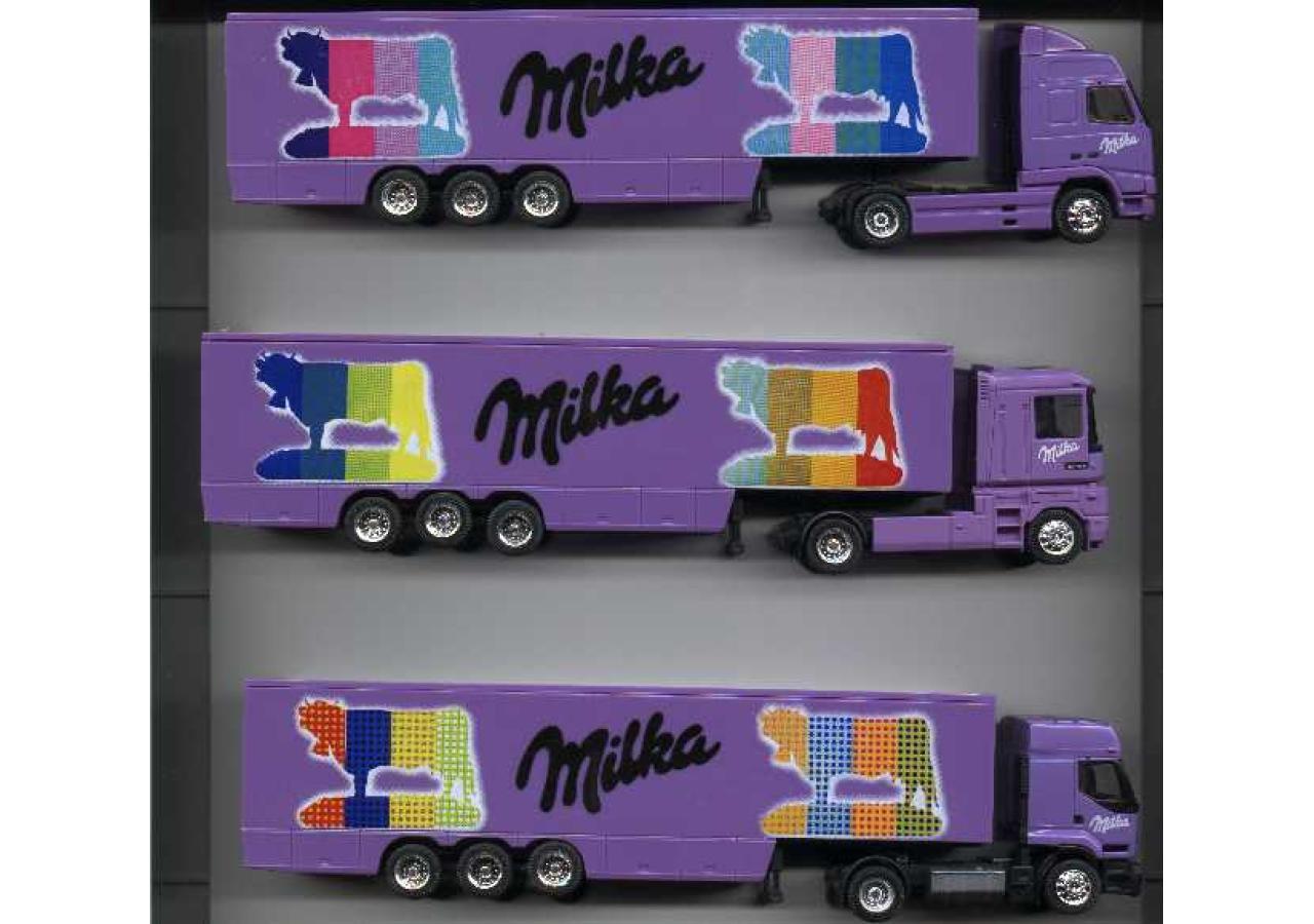Albedo 600000 set  milka, 3x camiones, Limited , nuevo, embalaje original