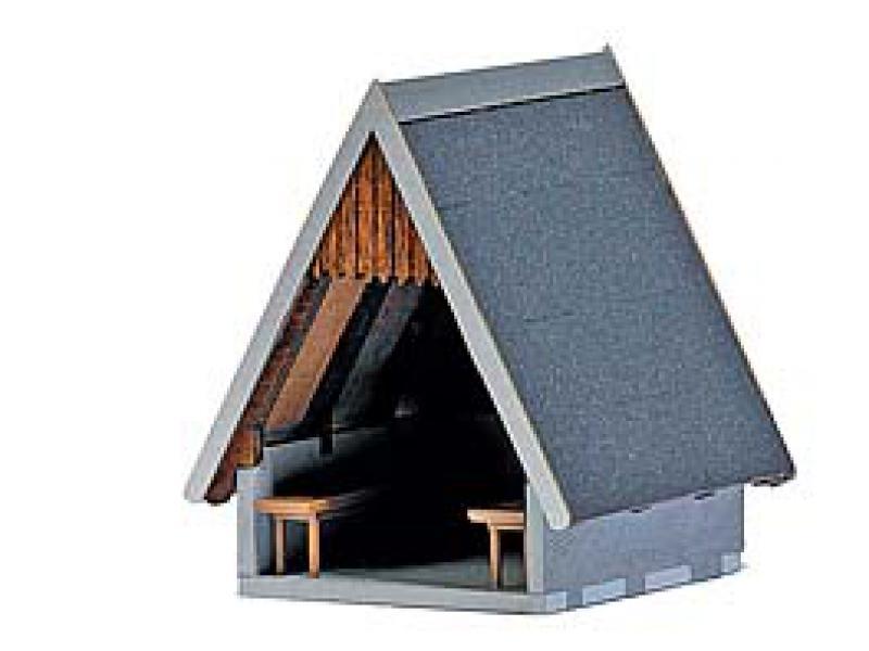 H0 Busch 1560 Schutzhütte 1