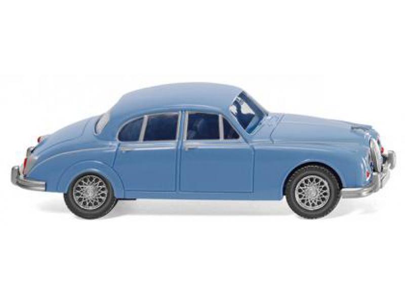 Modellbau Jaguar ~ Jaguar mk ii blau wiking modellbau 081305